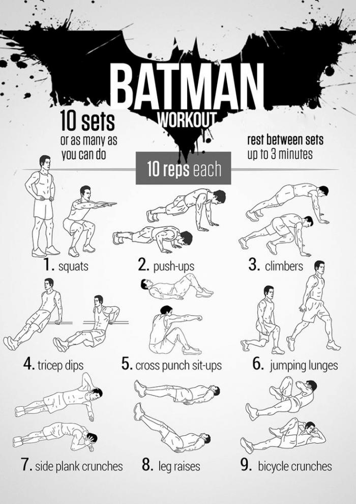 Batman Workout Plan